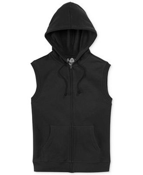 Sleeveless Fleece Hoodie Jacket by American Rag in Entourage