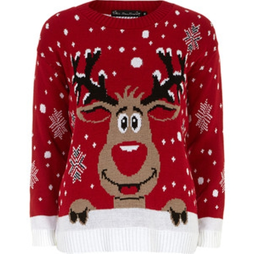 Red Christmas Reindeer Jumper by Dorothy Perkins in The Flash - Season 2 Episode 9