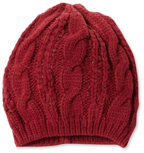 Women's Acrylic Cable Knit Beanie Hat by La Fiorentina in Prisoners