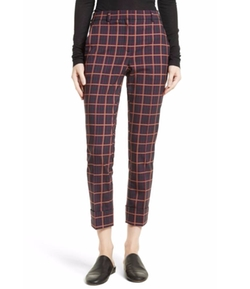 York Plaid Cuffed Crop Pants by Theory in Will & Grace