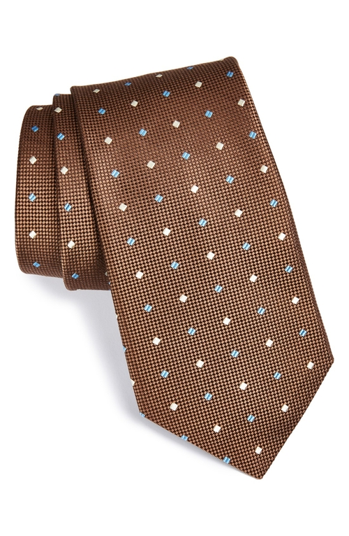 Woven Silk Tie by Nordstrom in The Dark Knight Rises