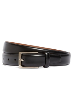 Silver Buckle Leather Dress Belt by Brooks Brothers in Mission: Impossible - Ghost Protocol