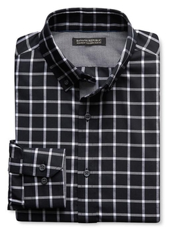 Tailored Check Oxford Shirt by Banana Republic in New Girl