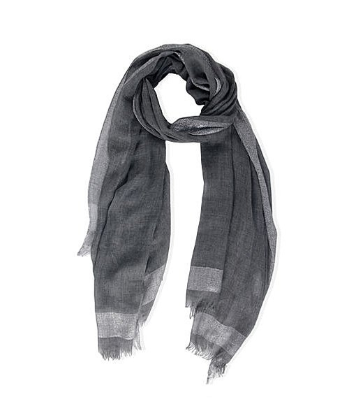 Lurex Stripped Scarf by Saachi in Whiskey Tango Foxtrot