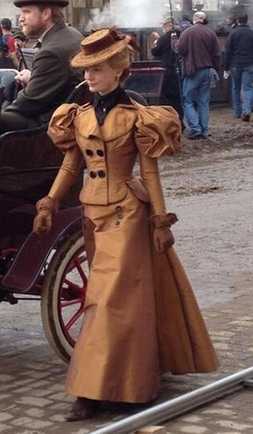 Custom Made Victorian Era Casual Dress by Kate Hawley (Costume Designer) in Crimson Peak