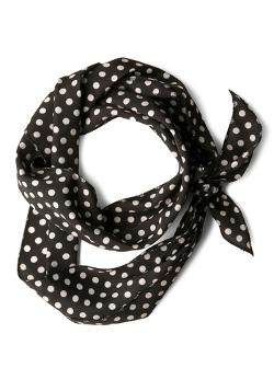 Scarf in Black Dots by Bow to Stern in And So It Goes