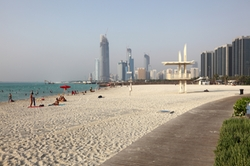 Abu Dhabi, United Arab Emirates by Corniche Beach in Furious 7