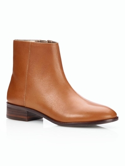 Teague Leather Booties by Talbots in Rosewood
