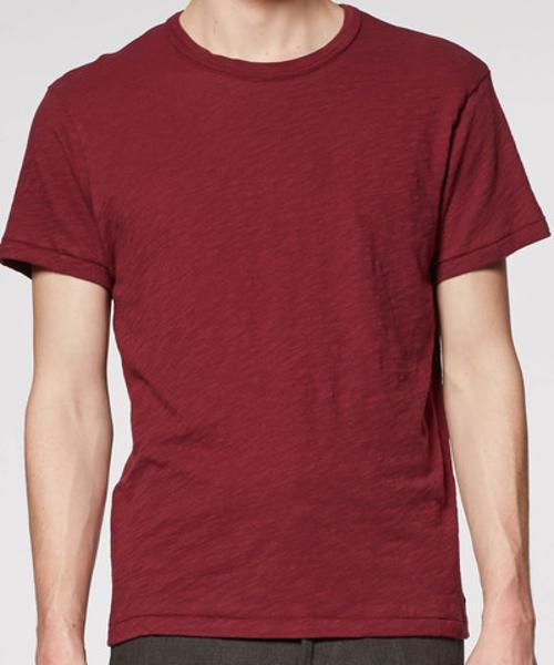 MAROON CREW NECK T-SHIRT by Todd Snyder New York in Million Dollar Arm