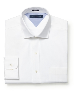 Slim-Fit Textured Solid Dress Shirt by Tommy Hilfiger in The Boy Next Door