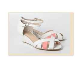 Buckled Wedge Sandals by 59 Seconds in The Best of Me