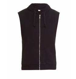 Son Sleeveless Hooded Sweatshirt by The White Briefs in XOXO