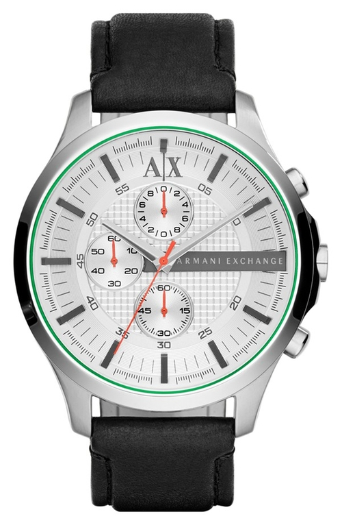 Chronograph Leather Strap Watch by AX Armani Exchange in Our Brand Is Crisis