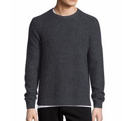 Boiled Cashmere Crewneck Sweater by Vince in Empire