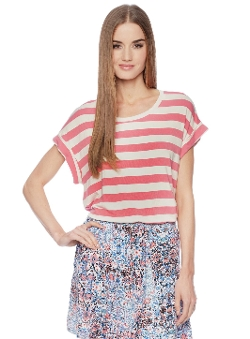 Barbara Roll Sleeve Tee by Ella Moss in McFarland, USA