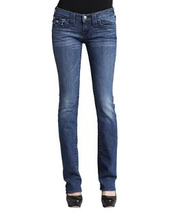 Billy Del Mar Flap-Pocket Straight-Leg Jeans by True Religion in Laggies