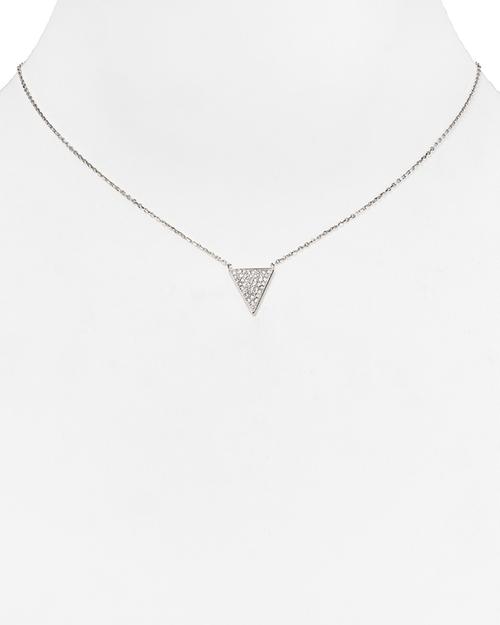 Pavé Triangle Pendant Necklace by Michael Kors in Pretty Little Liars - Season 6 Episode 5