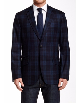 Plaid Notch Lapel Wool Sport Coat by Flynt in Love, Rosie