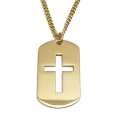 Mens Cross Cut Out Necklace by Shields Ofstrength in Ballers
