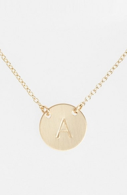Anchored Initial Disc Necklace by Nashelle in Valentine's Day