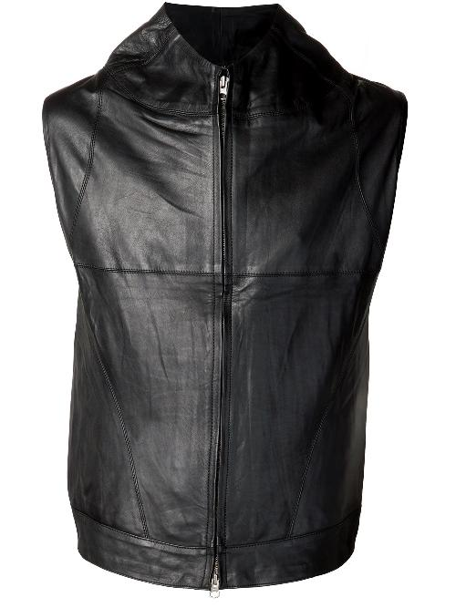 high collar leather vest by BUILT FOR MAN in Vampire Academy