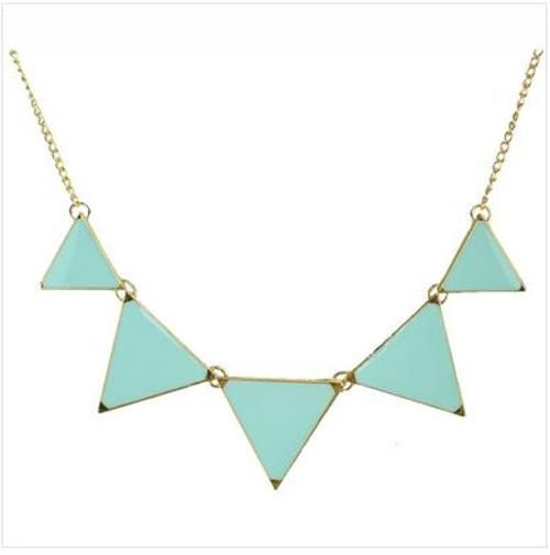 Triangle Chain Statement Necklace by Jane Stone in Neighbors
