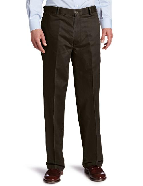 Men's Comfort Khaki D4 Relaxed Fit Flat Front Pant by Dockers in Get On Up