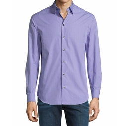 Micro-Check Long-Sleeve Sport Shirt by Armani Collezioni in Jane the Virgin