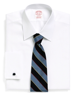 Madison Fit Tennis Collar French Cuff Dress Shirt by Brooks Brothers in Demolition