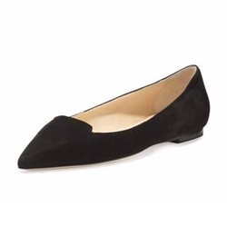 Attila Suede Pointed-Toe Flats by Jimmy Choo in Pretty Little Liars