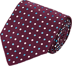 Polka Dot Satin Jacquard Necktie by Kiton in The Good Wife