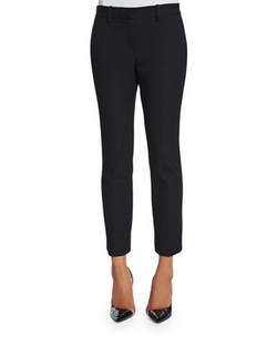Izelle C. Slim-Fit Jetty Pants by Theory in Why Him?