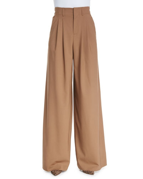 Pleated Wide Leg Trousers by Alice + Olivia in Scandal - Season 5 Episode 5