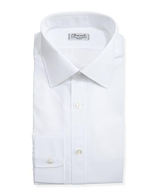Solid Poplin Dress Shirt by Charvet	 in No Strings Attached