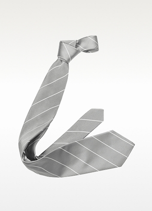 Pencil Stripe Silk Twill Tie by Forzieri in Ricki and the Flash