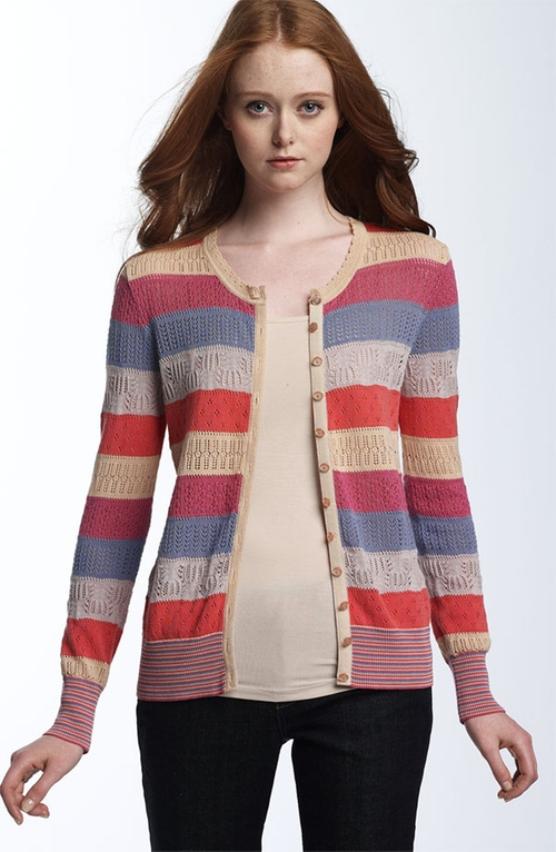 'Tracy' Pointelle Cardigan by Marc by Marc Jacobs in Scream Queens - Season 1 Episode 7