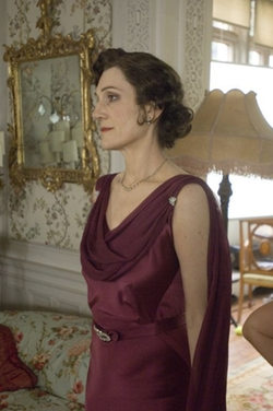 Custom Made Drape Sleeveless Dress by Jacqueline Durran (Costume Designer) in Atonement