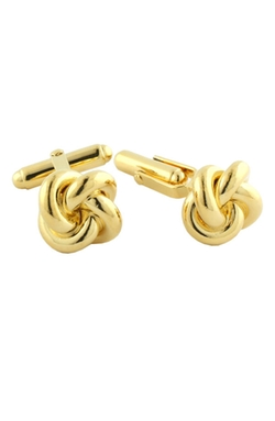 Gold Knot Cufflinks by David Donahue in Jurassic World