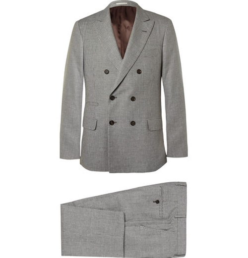 Houndstooth Linen Wool & Silk Suit by Brunello Cucinelli in The Hangover