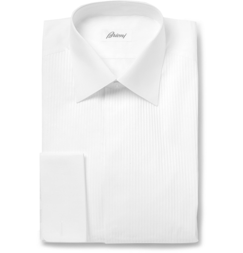 Bib-Front Cotton Tuxedo Shirt by Brioni in Mission: Impossible - Rogue Nation