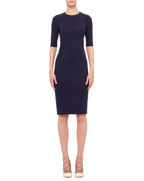 Jewel-Neck Sheath Dress by Akris Punto in Lady Dynamite -  Preview