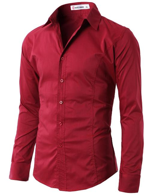 Men's Wrinkle Free Slim Fit Dress Shirts by H2H in Anchorman 2: The Legend Continues