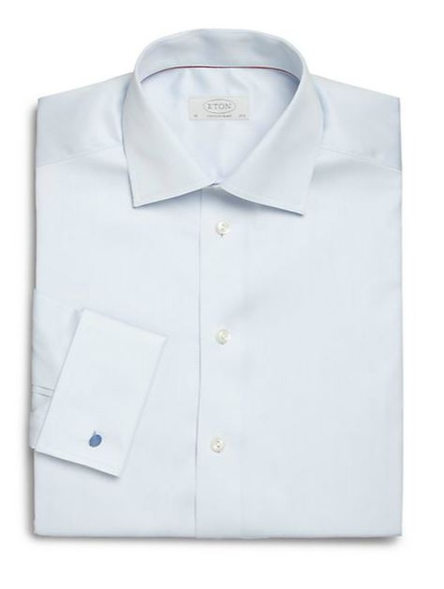 Contemporary-Fit Diamond Cotton Dress Shirt by Eton of Sweden in Survivor