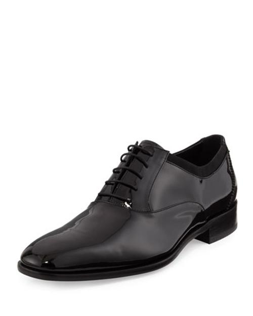 Aiden Patent Lace-Up Oxford by Salvatore Ferragamo	 in The Other Woman