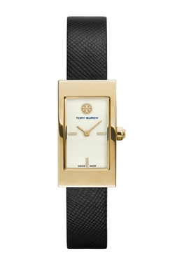 Rectangular Leather Strap Watch by Tory Burch in The Spy Who Loved Me