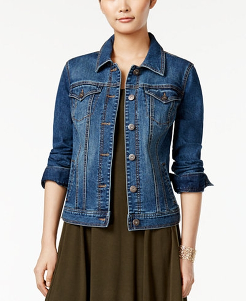Mosaic Wash Denim Jacket by Style & Co. in Pretty Little Liars - Season 7 Episode 4