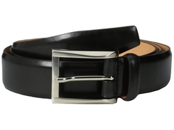 Broderick Leather Belt by Trafalgar in Suits