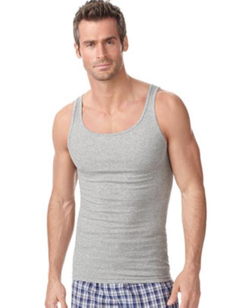 Men's Underwear Rib Tank Top by Alfani in Blackhat
