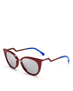 Zig Zag Cat Eye Sunglasses by Fendi in Empire