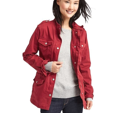 Classic Utility Jacket by Gap in New Girl - Season 6 Episode 3